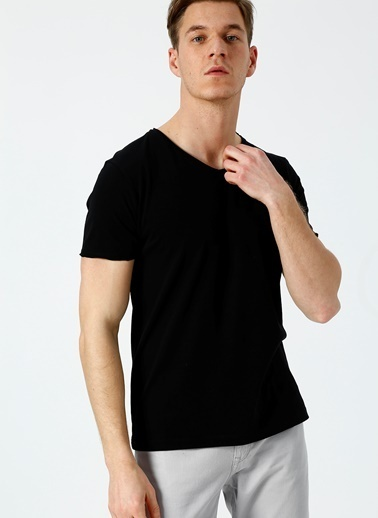 Bad Bear Bad Bear V-Collar Polo T-Shirt Siyah